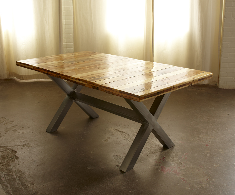 Pallet Top Dining Table Download Foto Gambar Wallpaper  : pallet top dining table w x brace legs1 from www.filmbokep69.com size 906 x 750 jpeg 279kB