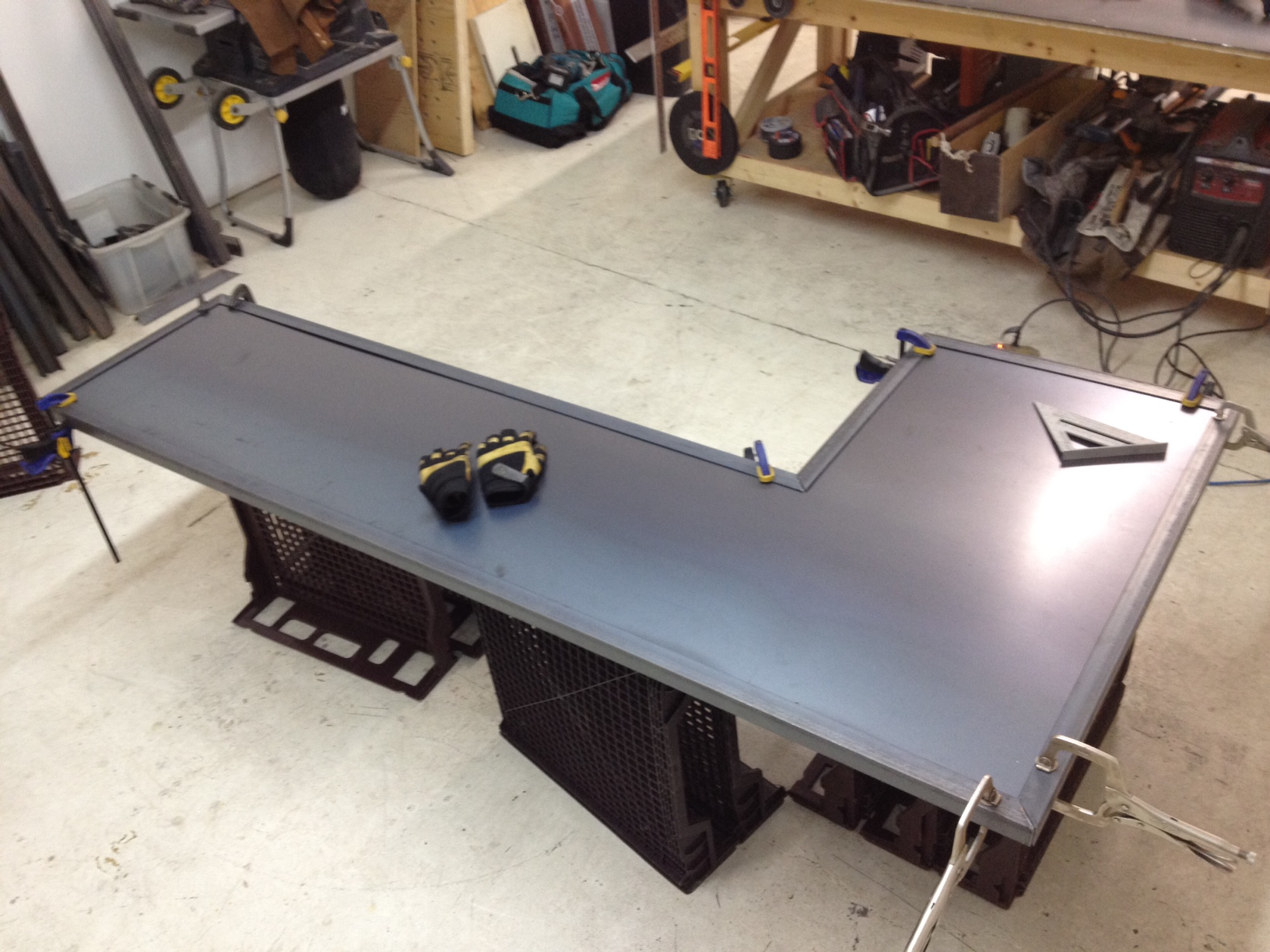 Shop Countertops : bar countertop for Bike Sauce. It?s a local volunteer run bike shop ...